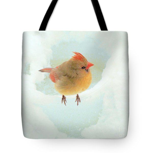 Baby Female Cardinal Tote Bag