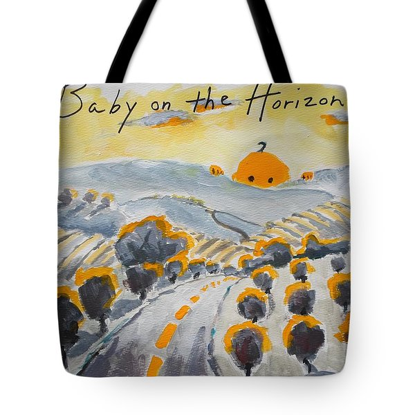 Baby On The Horizon Tote Bag by Margaret  Plumb