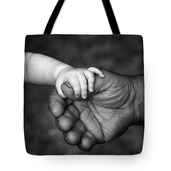 Babys Hand Holding On To Adult Hand Tote Bag
