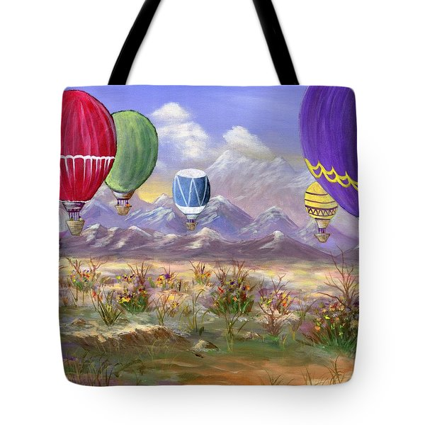 Tote Bag featuring the painting Balloons by Jamie Frier