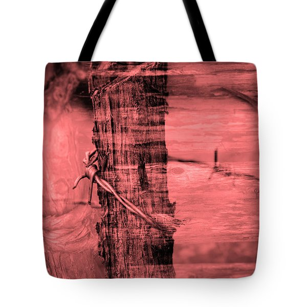 Barbed Wire Tote Bag by Tommytechno Sweden