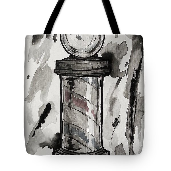 Barber Pole Tote Bag by The Styles Gallery