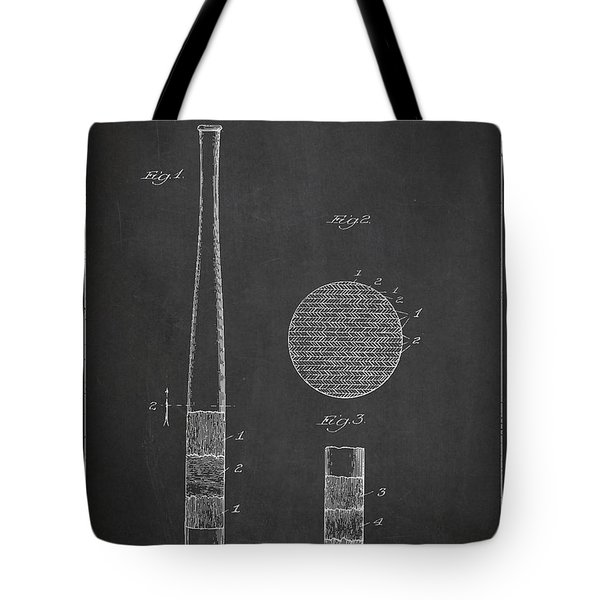 Baseball Bat Patent Drawing From 1920 Tote Bag