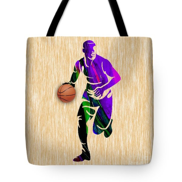 Basketball Player Tote Bag by Marvin Blaine