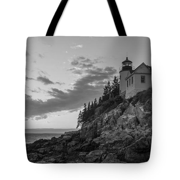 Bass Harbor Head Light Sunset  Tote Bag by Michael Ver Sprill