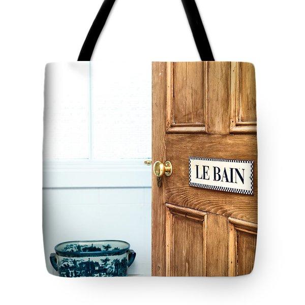 Bathroom Door Tote Bag by Tom Gowanlock
