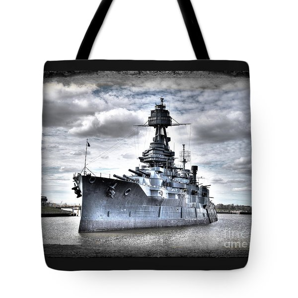 Battleship Texas Tote Bag by Savannah Gibbs