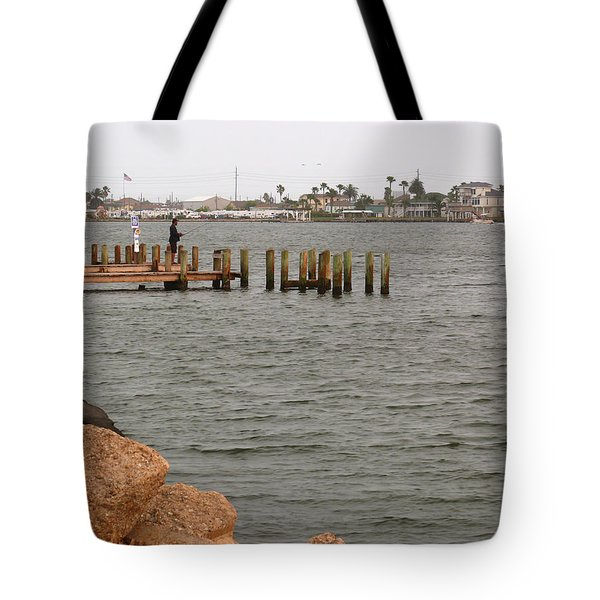 Bay Fishing Tote Bag