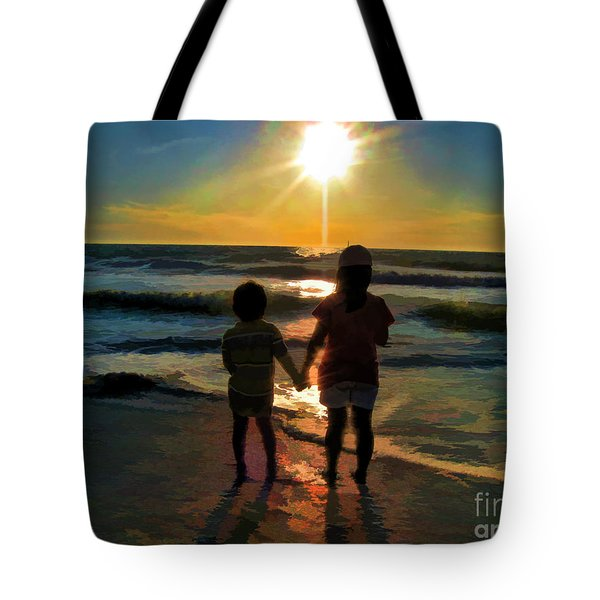 Beach Kids Tote Bag