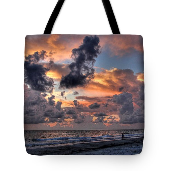 Beach Walk - Florida Seascape Tote Bag by HH Photography of Florida