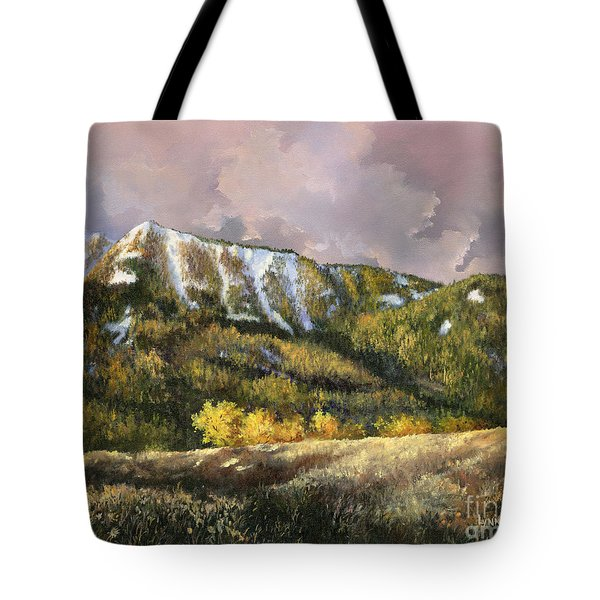 Tote Bag featuring the painting Bear Claw by Lynne Wright