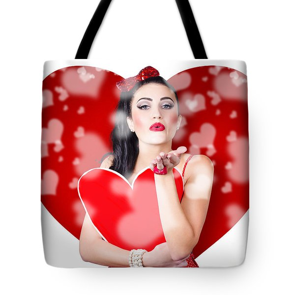 Beautiful Girl In A Bright Love Romance Tote Bag