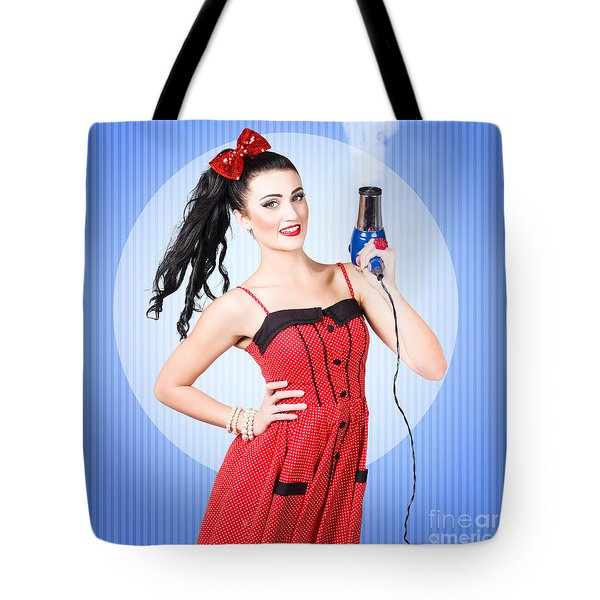 Beauty Salon Blow Dry Hair Style Tote Bag
