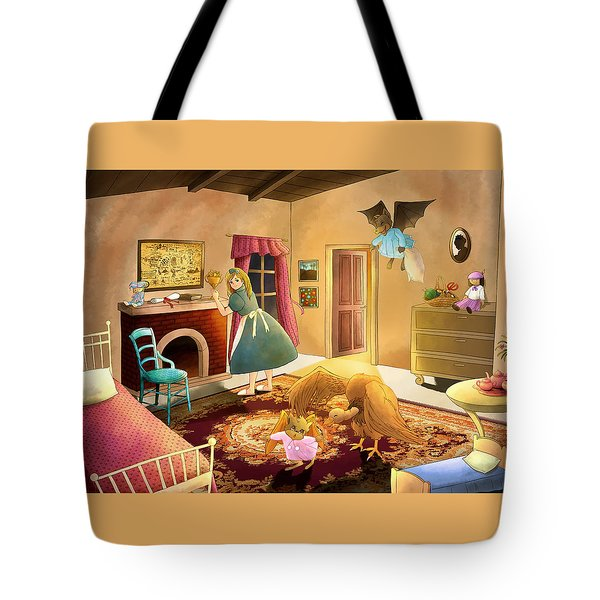 Bedtime With Polly Tote Bag by Reynold Jay