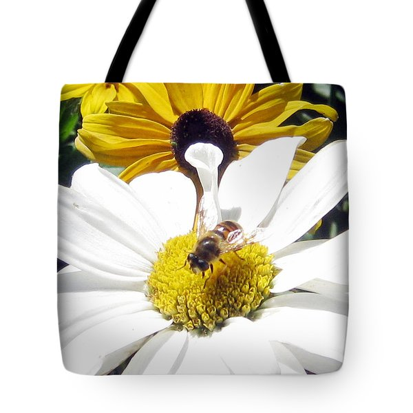 Tote Bag featuring the photograph Beecause by Janice Westerberg
