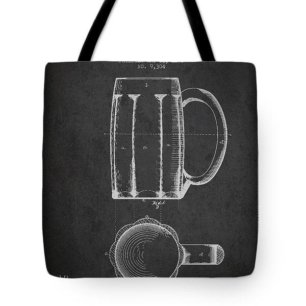 Beer Mug Patent From 1876 - Dark Tote Bag