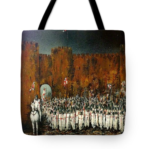 Before Battle Tote Bag by Kaye Miller-Dewing