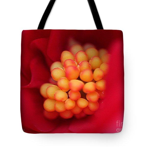 Begonia Named Nonstop Mocca Scarlet Tote Bag by J McCombie