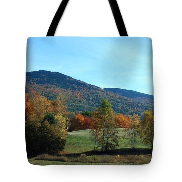 Tote Bag featuring the photograph Belknap Mountain by Mim White
