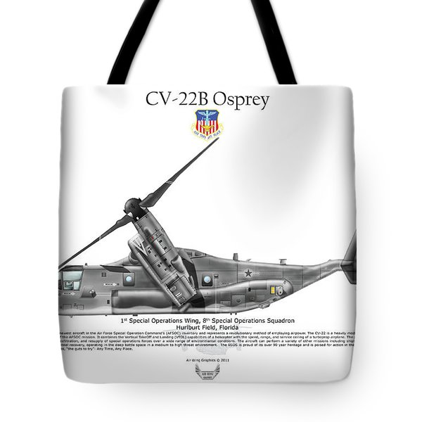 Tote Bag featuring the digital art Bell-boeing Cv-22b Osprey by Arthur Eggers