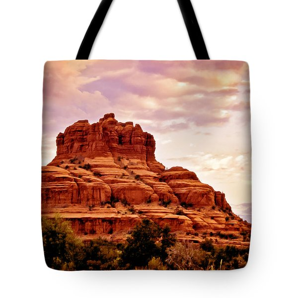 Bell Rock Vortex Painting Tote Bag