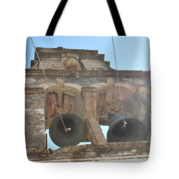 Tote Bag featuring the photograph Bell Tower 1584 by George Katechis