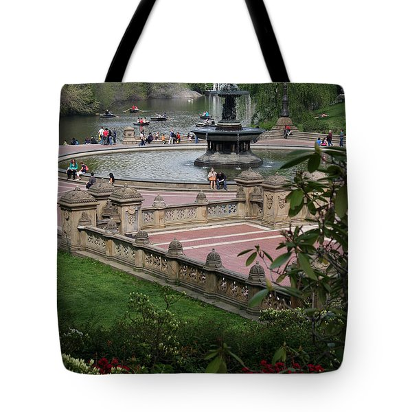 Bethesda Fountain - Central Park Nyc Tote Bag by Christiane Schulze Art And Photography