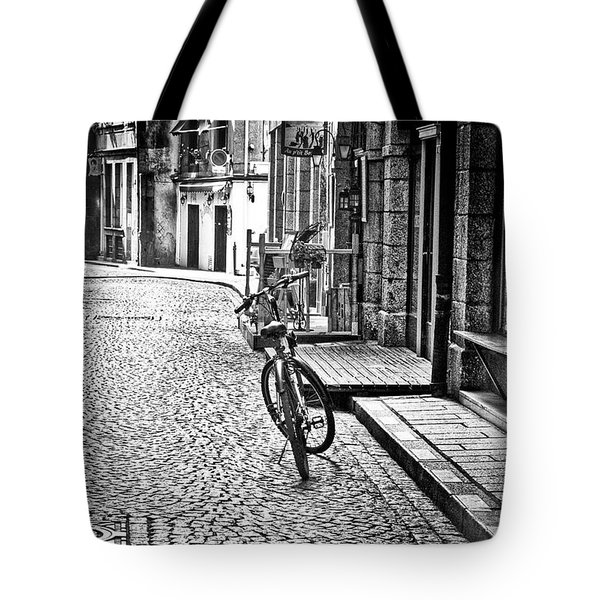 Bicycle And Sparrow 2  Tote Bag by Elf Evans
