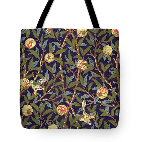 Bird And Pomegranate Tote Bag
