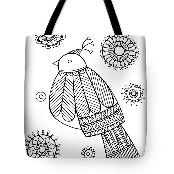 Bird Dove Tote Bag by Neeti Goswami
