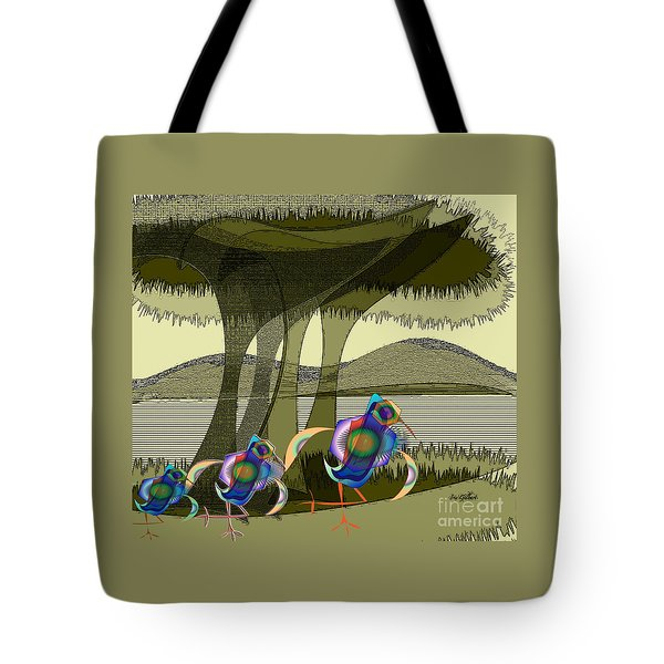 Bird Of A Different Colour Tote Bag by Iris Gelbart