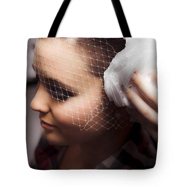 Birdcage Veil Tote Bag
