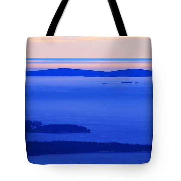 Bird's-eye View From Cadillac Mountain Acadia National Park Tote Bag