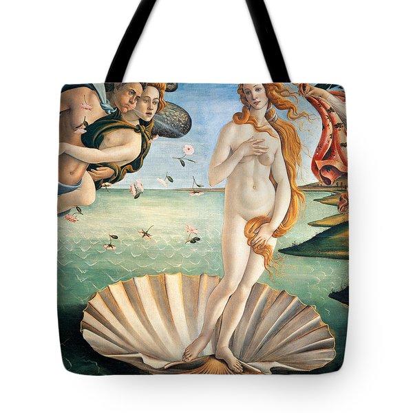 Birth Of Venus Tote Bag by Sandro Botticelli