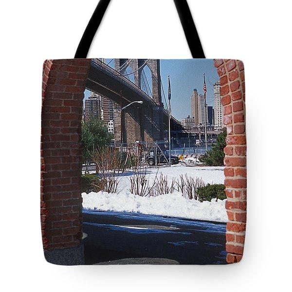 Bklyn Bridge Tote Bag by Bruce Bain