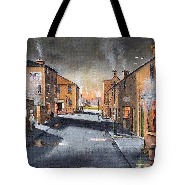 Black Country Village From The Boat Yard Tote Bag
