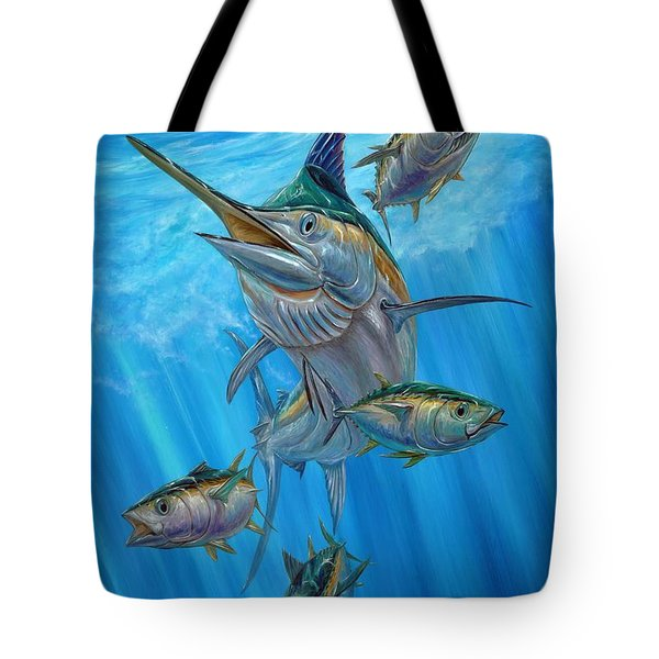 Black Marlin And Albacore Tote Bag