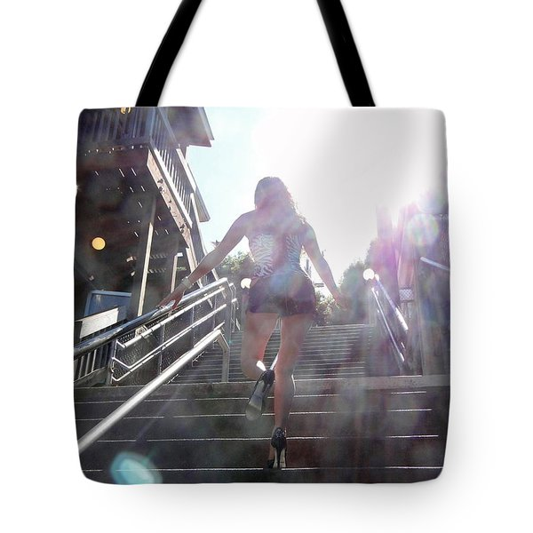 Tote Bag featuring the photograph Blink by Nick David