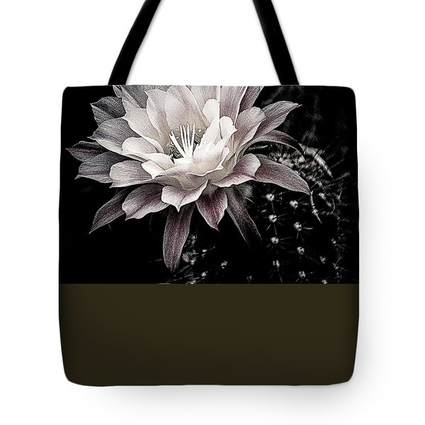 Blooming Cactus Tote Bag by Julie Palencia