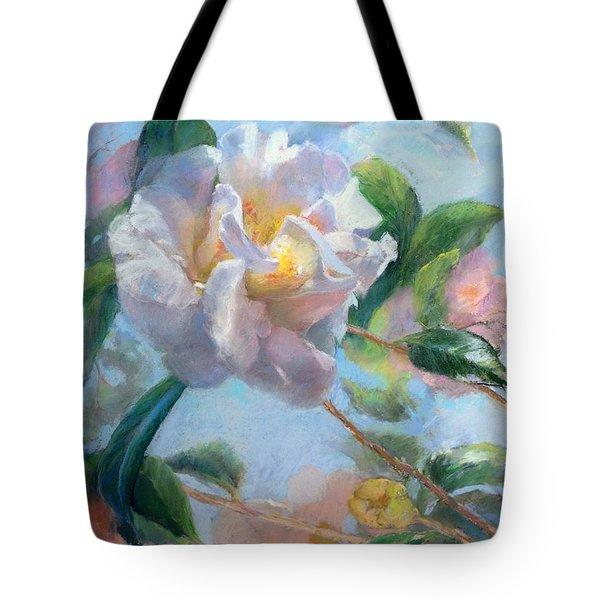 Blooming Flowers Tote Bag by Nancy Stutes
