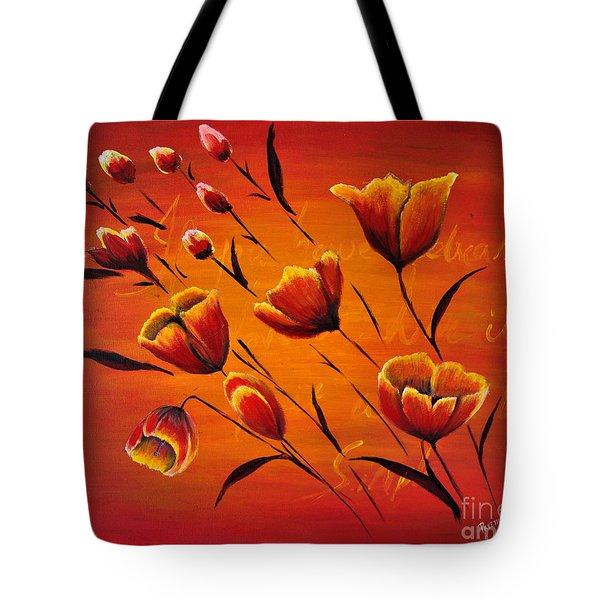 Blooming Flowers Tote Bag