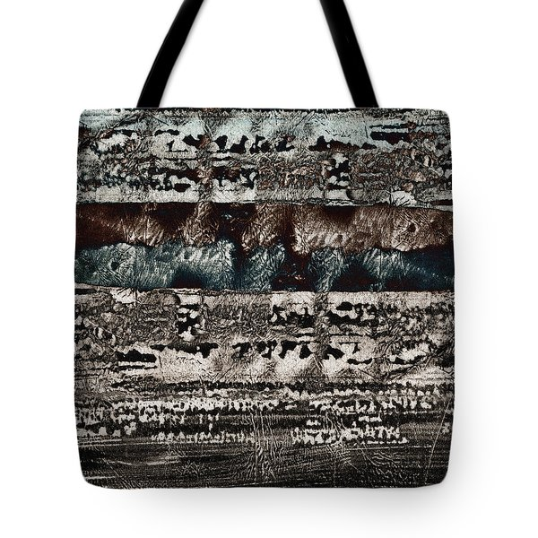 Blue And Black Textures Tote Bag