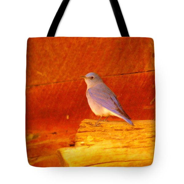 Blue Bird Tote Bag by Jeff Swan
