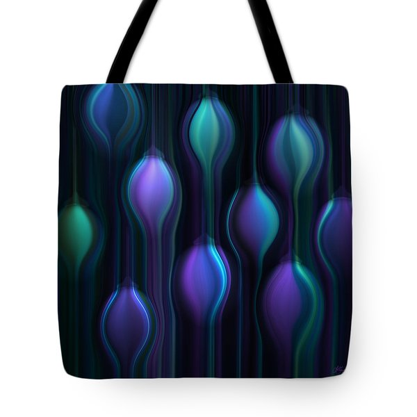 Blue Chandeliers Tote Bag