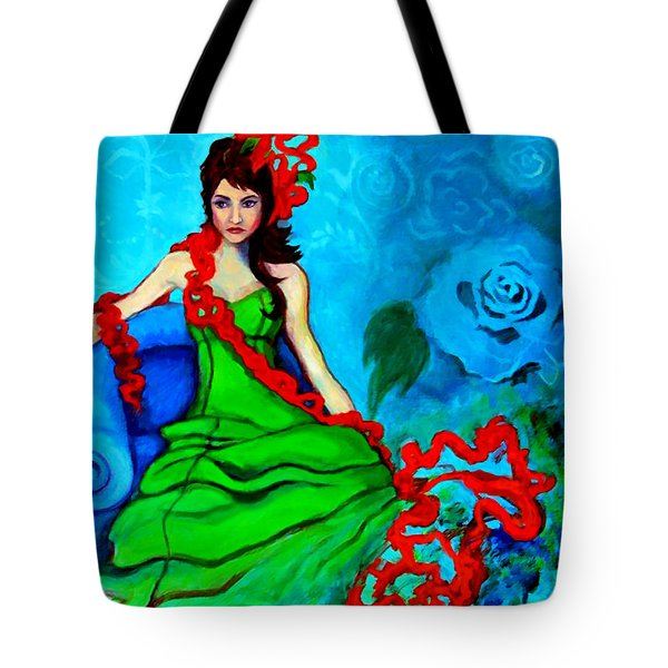 Blue Compliments Tote Bag