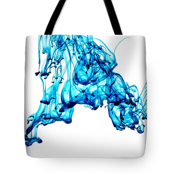 Blue Descent Tote Bag