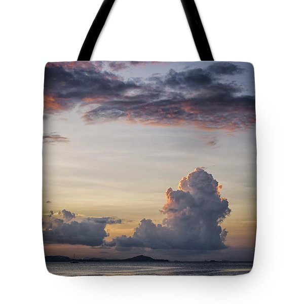 Blue Evening Tote Bag