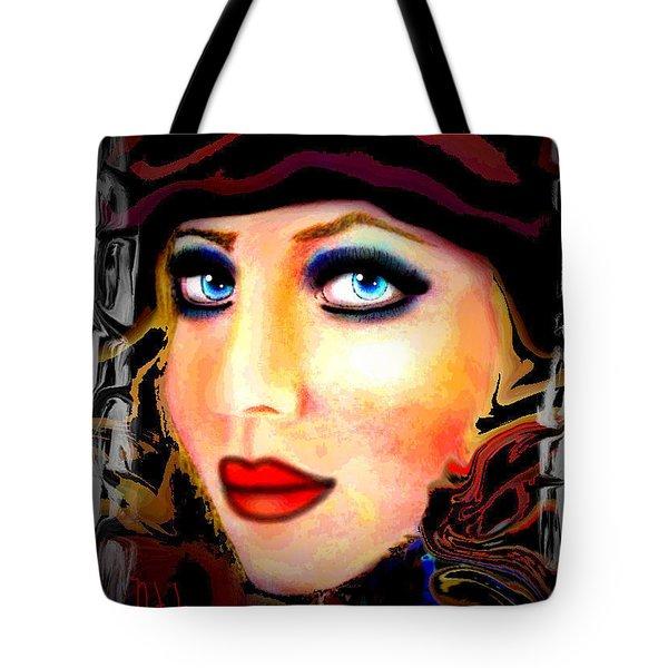 Blue Eyes Tote Bag by Natalie Holland