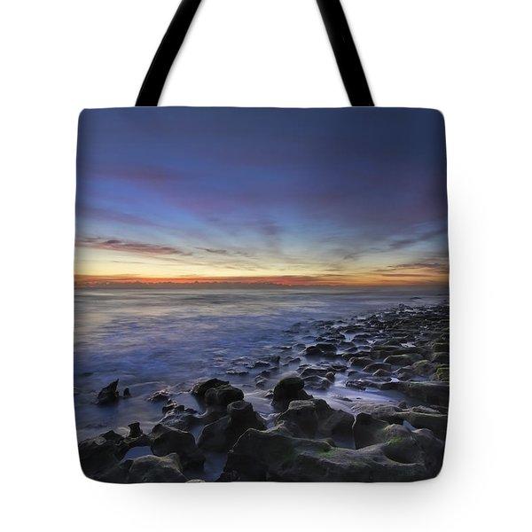 Blue Lagoon Tote Bag by Debra and Dave Vanderlaan