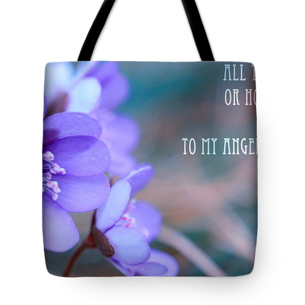 Blue Springtime Flowers Mother's Day Tote Bag